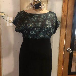 Ann taylor silk midi dress